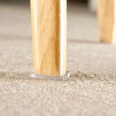 桌椅防滑防震墊(4入) 防滑 桌腳墊 板凳腳墊 靜音 椅子 腳貼 透明 黏貼【Q022-3】慢思行