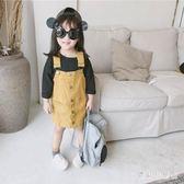 女童牛仔吊帶裙 背帶裙秋2018新款公主裙兒童吊帶裙 BF13399『寶貝兒童裝』