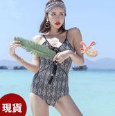 泳衣來福妹,C976泳華格衣流蘇性感連身泳衣游泳衣泳裝比基尼泳衣M-XL正品,售價950元