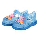 IGOR粉紅豬小妹果凍小童鞋-粉藍
