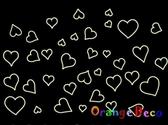 壁貼【橘果設計】 高亮度夜光壁貼 DIY組合壁貼/牆貼/壁紙/客廳臥室浴室幼稚園室內設計裝潢