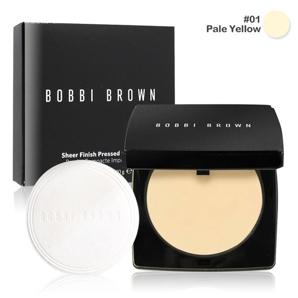 BOBBI BROWN 羽柔蜜粉餅#01 Pale Yellow(10g)-國際航空版