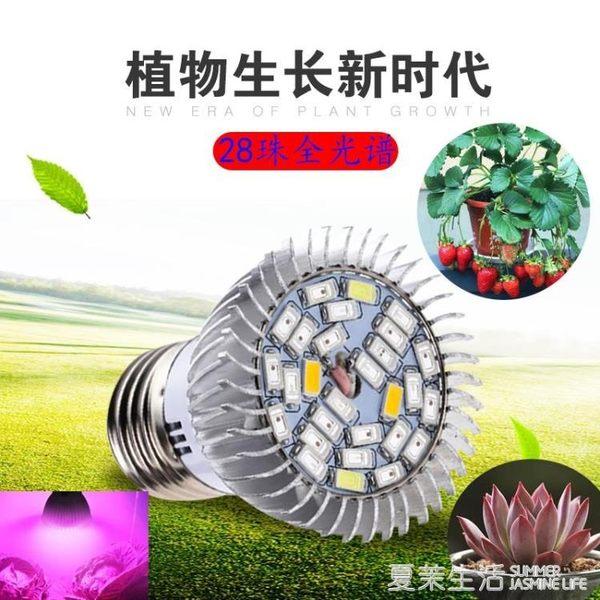植物燈 LED植物燈光合作用室內多肉上色補光全光譜仿太陽光防徒植物生長220V『夏茉生活』