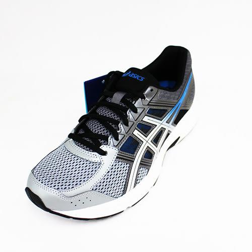 ASICS 男 GEL CONTEND 亞瑟膠 慢跑鞋 T715N-020 銀[陽光樂活]