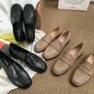 ins網紅黑色小皮鞋女英倫風2019春季...