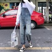 復古港味牛仔背帶褲女韓版寬鬆高腰小個子2020新款春秋季顯瘦褲子 蘑菇街小屋