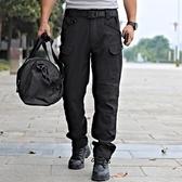 戰術褲 春夏速干褲男戰術褲防水ix7多袋褲寬鬆迷彩褲執政官工裝褲透氣【快速出貨】