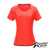 PolarStar 女 排汗快乾圓領T恤『橘』P17132 吸濕排汗│瑜珈休閒服│短袖透氣運動服│慢跑路跑