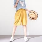 【慢。生活】動物口袋寬版短褲 30519  FREE 黃色