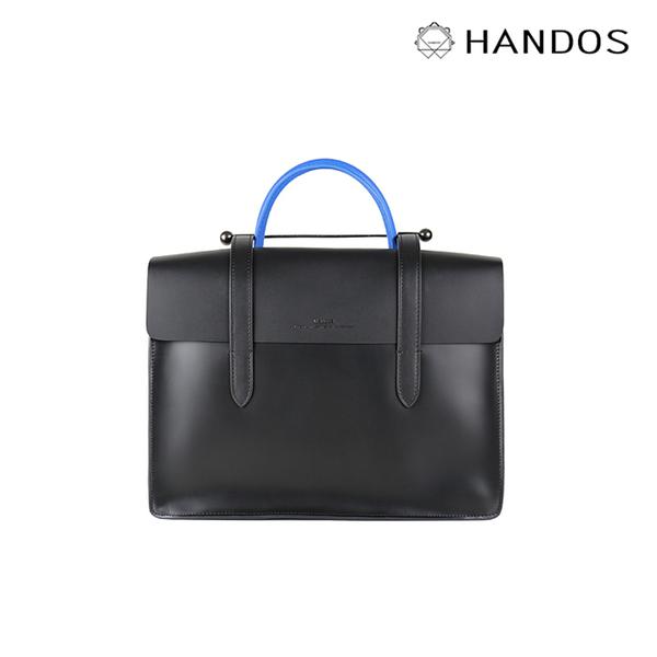 HANDOS| Musician 皮革音譜手提包 - 紳士藍↘7折