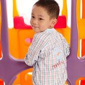 【愛的世界】純棉格紋長袖薄外套/2歲/4歲-台灣製- ★春夏外套