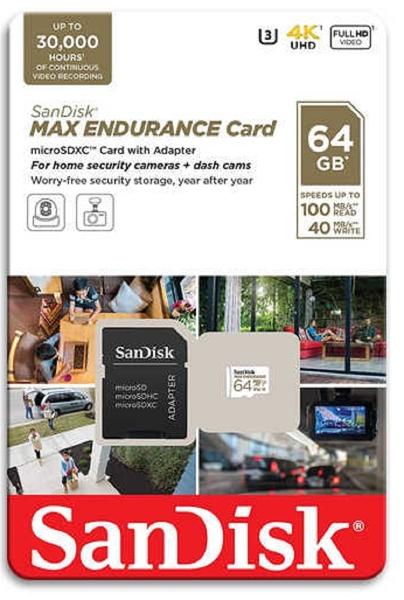 SanDisk 64GB 64G microSDXC【Max Endurance】microSD SD V30 U3 4K C10記憶卡