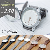 Crayon.香港FEIFAN。金屬磨砂秒針圈斜紋皮革手錶對錶【ta503】*911 SHOP*