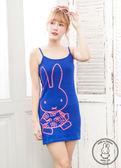 【2%】 miffyX2% 休閒細肩連身長版上衣_藍