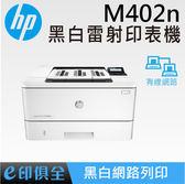 M402n HP網路 黑白 雷射印表機,M401n 接替機種 ☞中小群組用戶推薦機種