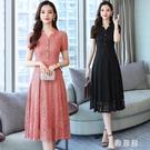 2020新款女裝气质连衣裙子休閒寬鬆甜美夏季氣質高檔蕾絲連身裙洋裝 OO10246【雅居屋】