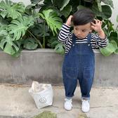 男童牛仔褲韓版女寶寶背帶褲春季長褲嬰兒童裝【奇趣小屋】