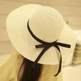 韓國兒童草帽女童沙灘帽寶寶遮陽漁夫帽