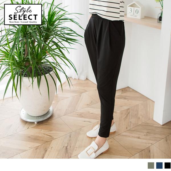 OrangeBear《KG0251》全鬆緊腰頭素面涼感哈倫褲--適 XL~6L