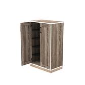 組 - 組合收納櫃 胡櫃深灰層胡門橡木腳 60x35x91cm