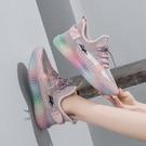 椰子鞋 飛織椰子鞋女2021新款夏季透氣網紅老爹鞋子百搭ins網面運動潮鞋