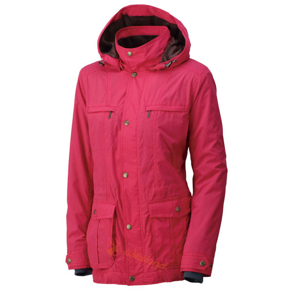 Wildland 荒野 0A32907-20玫瑰紅 女 絲絨時尚防風保暖外套