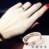 戒指女韓版指環簡約十字戒