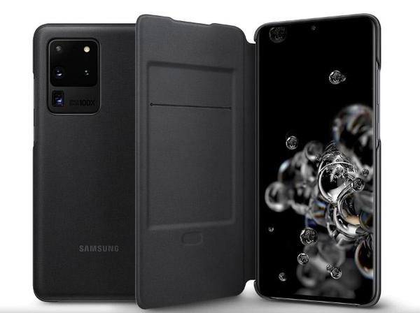 【免運費】SAMSUNG S20 Ultra 原廠 LED 翻頁式皮套