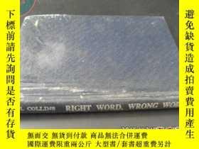 二手書博民逛書店RIGHT罕見WORD,WRONG WORDY5919
