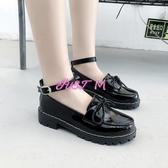 娃娃鞋女鬆糕鞋女日系jK制服鞋原宿圓頭小皮鞋厚底軟妹鞋子學院娃娃單鞋女 交換禮物