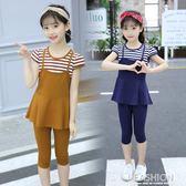 6夏裝8女童純棉韓版套裝10兒童裝7小女孩9衣服夏季4-13歲套裝12潮-Ifashion