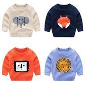 上衣 男童針織衫套頭毛衣2018新款秋裝童裝寶寶兒童女童薄款卡通線衣潮 雙11購物節