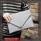 PocoPlus 信封包 手拿包 毛呢 文件包 潮流款包 手提包【B495】