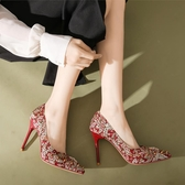 恨天高 超高跟婚鞋女秀禾細跟中式紅色12cm結婚鞋平時可穿 【快速出貨】