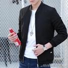 男士外套春季新款韓版潮流修身帥氣裝衣服薄男裝青年休閒夾克 美芭