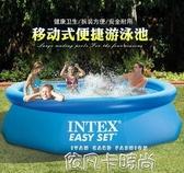 INTEX充氣游泳池超大號家用成人兒童泳池加厚加高家庭戲水池QM 依凡卡時尚