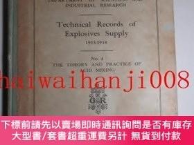 二手書博民逛書店Technical罕見Records of Explosives Supply 1915-1918 No.4 Th