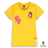 Hush Puppies 女裝刺繡帽子狗棉質短袖T恤