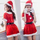 K010 保守風格耶誕女孩可愛聖誕內衣 Xmas派對焦點聖誕裙 內容物: 連身裙+手套+皮帶+聖誕帽
