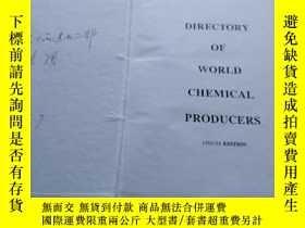 二手書博民逛書店Directory罕見of World Chemical Pro