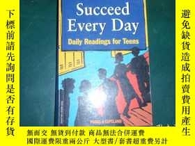 二手書博民逛書店英文原版:Succeed罕見every day:daily re