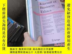 二手書博民逛書店journal罕見of business ethics 2013