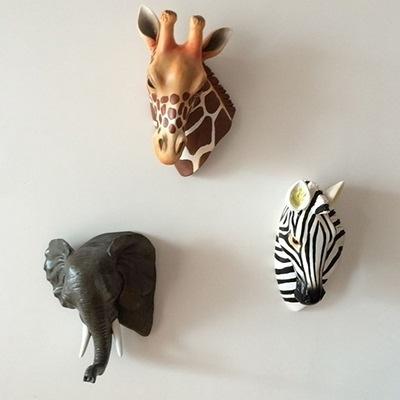 掛飾擺件-3D立體野生動物創意居家壁掛擺飾用品3款73a26【時尚巴黎】
