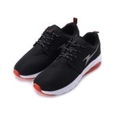 ARNOR 綁帶氣墊慢跑鞋 黑紅 ARMR83162 男鞋 鞋全家福