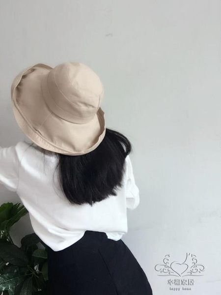遮陽帽子透氣棉麻折疊布帽 太陽帽 百搭光板漁夫盆帽女士布帽【1件免運】