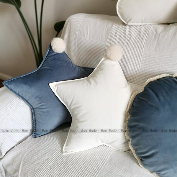 沙發抱枕靠墊北歐ins風 白色可愛云朵可拆洗星星兒童抱枕客廳飄窗 樂活生活館