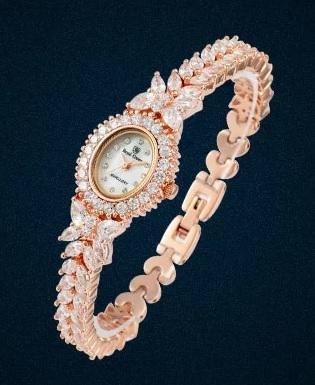 義大利Royal Crown 羅亞克朗- 氣質名媛奢華鑽石 滿鑽鋯石腕錶 RC女錶 情侶錶對錶手鍊錶
