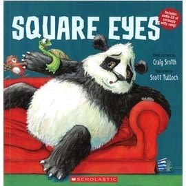 【英文繪本+CD】SQUARE EYES 《主題:視力保健》
