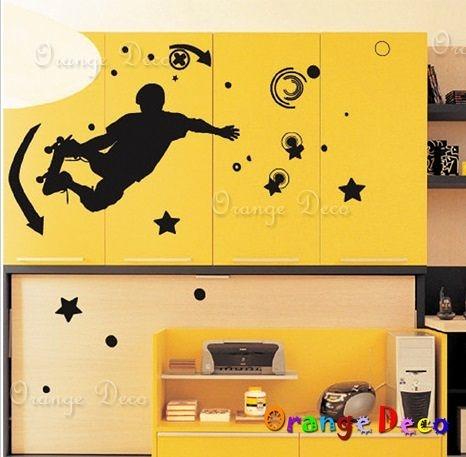 壁貼【橘果設計】運動 DIY組合壁貼/牆貼/壁紙/客廳臥室浴室幼稚園室內設計裝潢