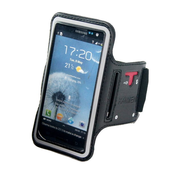 KAMEN Xction甲面X行動Samsung Galaxy S3 i9300 S4 i9500運動臂套Samsung Galaxy S4 S3 Mini Premier i9260運動臂帶手臂套